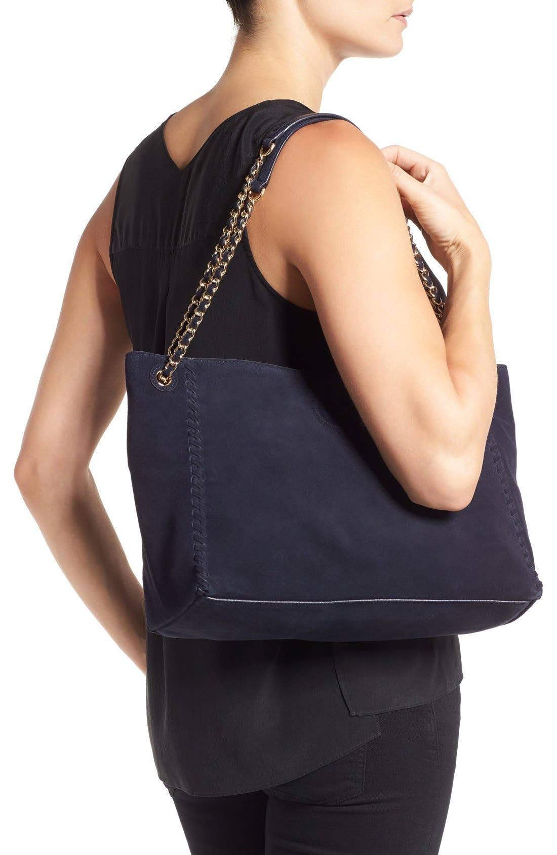 Alternate Image 2  - Tory Burch 'Marion' Suede Tote
