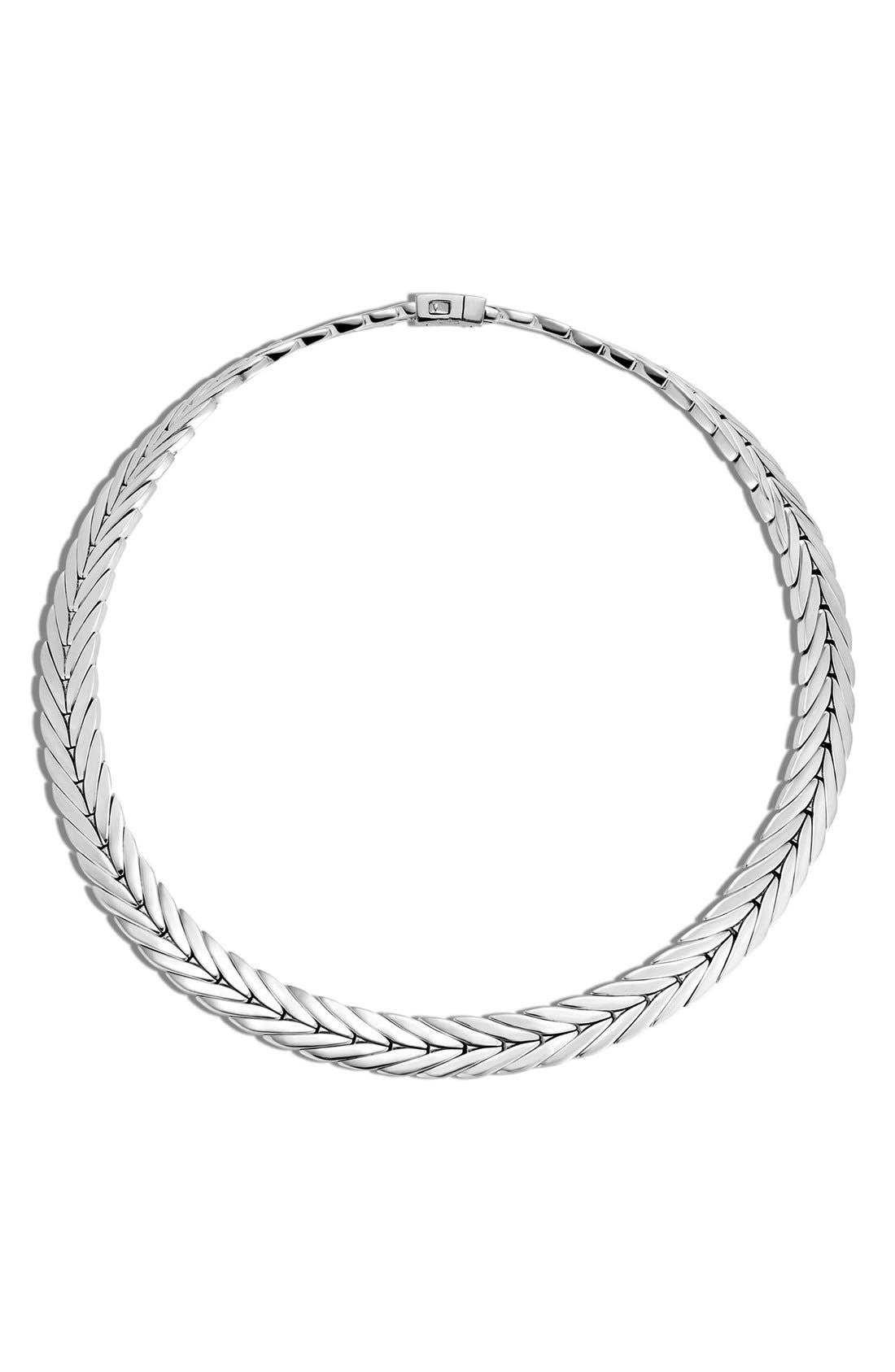 'Classic Chain' Chain Collar Necklace,                             Main thumbnail 1, color,                             Silver