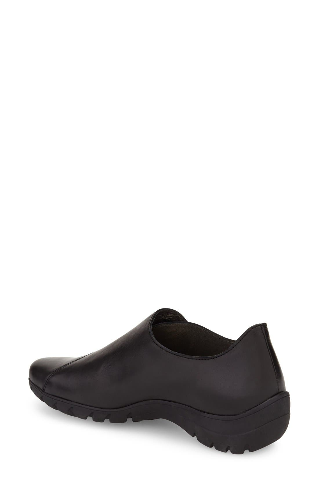 'Luce' Sneaker,                             Alternate thumbnail 2, color,                             Black Silk Leather