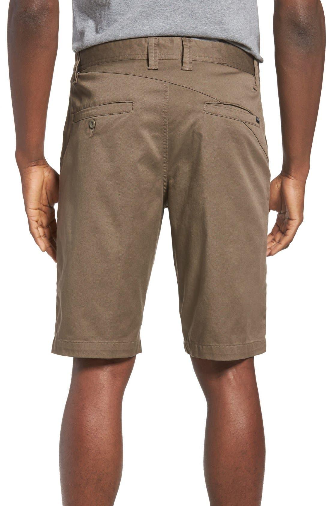 'Modern' Stretch Chino Shorts,                             Alternate thumbnail 2, color,                             Mushroom