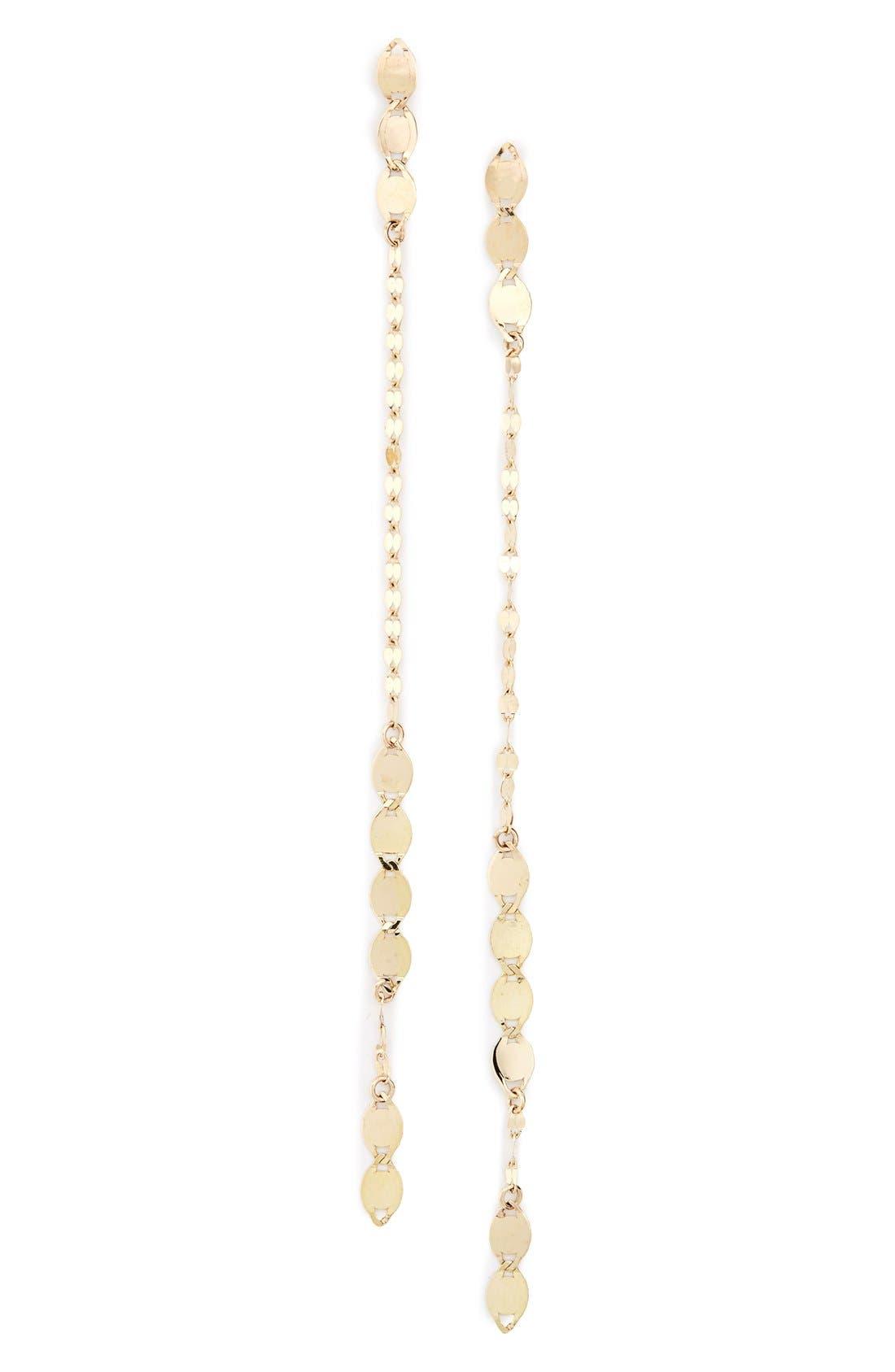 Linear Drop Earrings,                             Main thumbnail 1, color,                             Yellow Gold