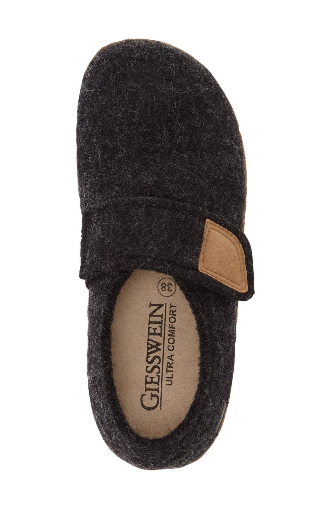 Camden Water Repellent Slipper,                             Alternate thumbnail 3, color,                             Charcoal Wool