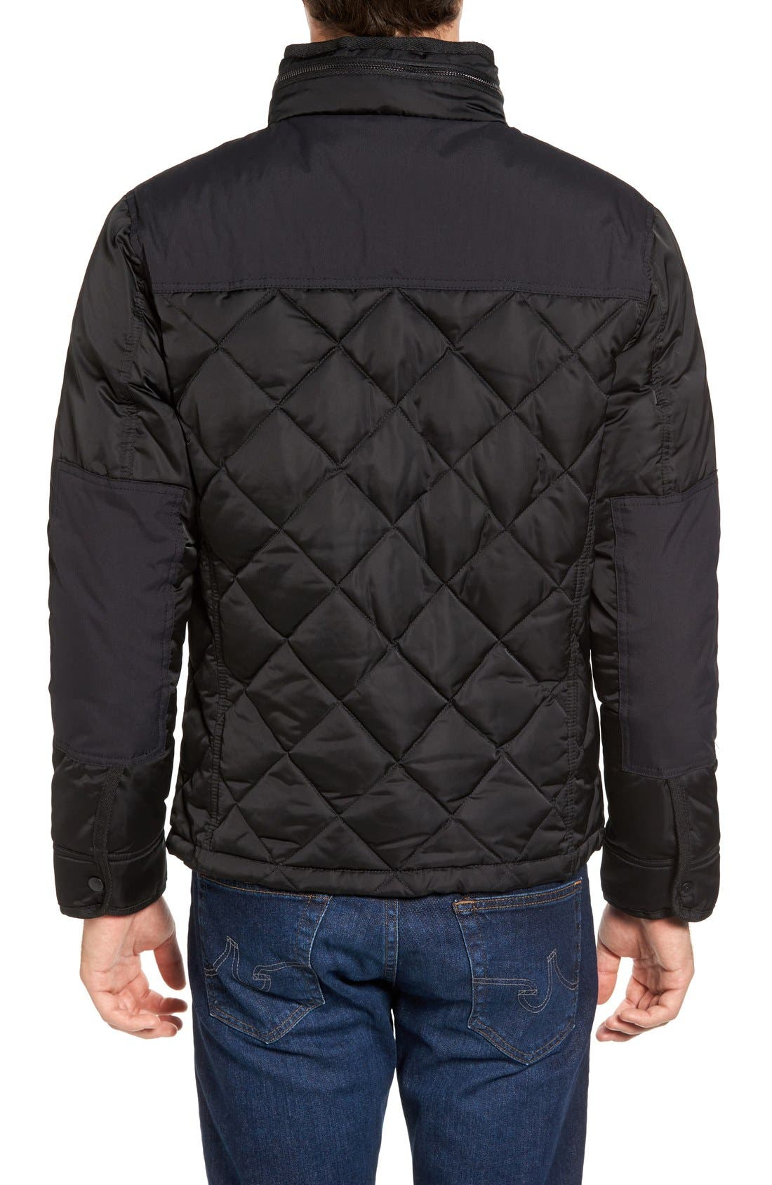 Alternate Image 2  - Schott NYC Café Racer Quilted Down Hooded Jacket