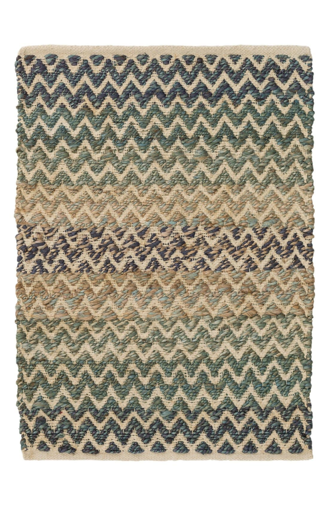 Cousteau Handwoven Rug,                         Main,                         color, Green/ Blue
