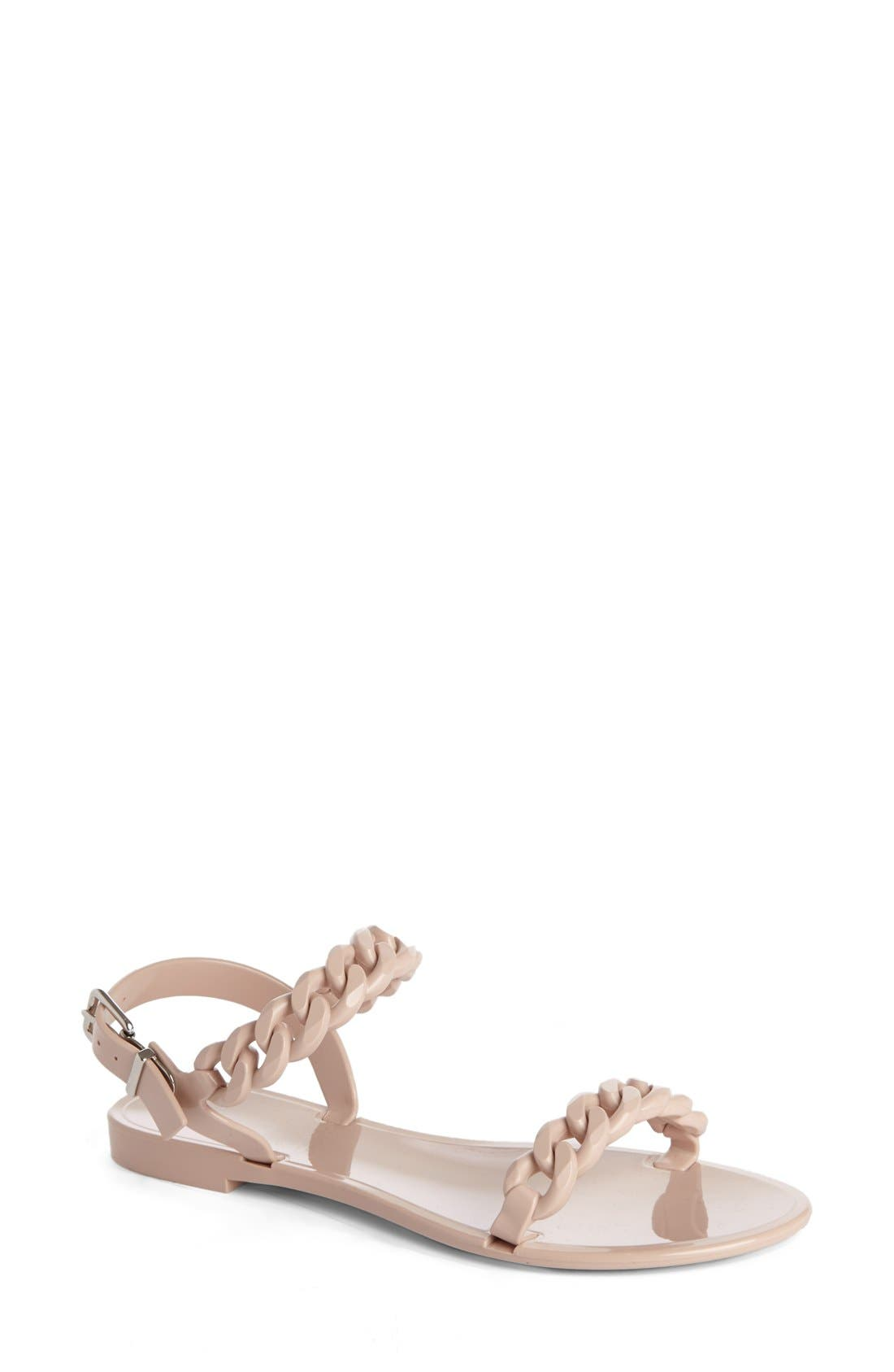Main Image - Givenchy'NeaChain' Logo Jelly Sandal (Women)