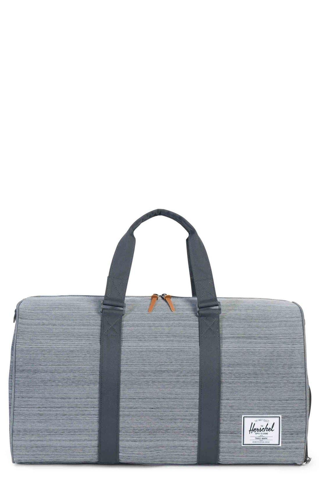 Novel Duffel Bag,                         Main,                         color, Multi Crosshatch/ Dark Shadow