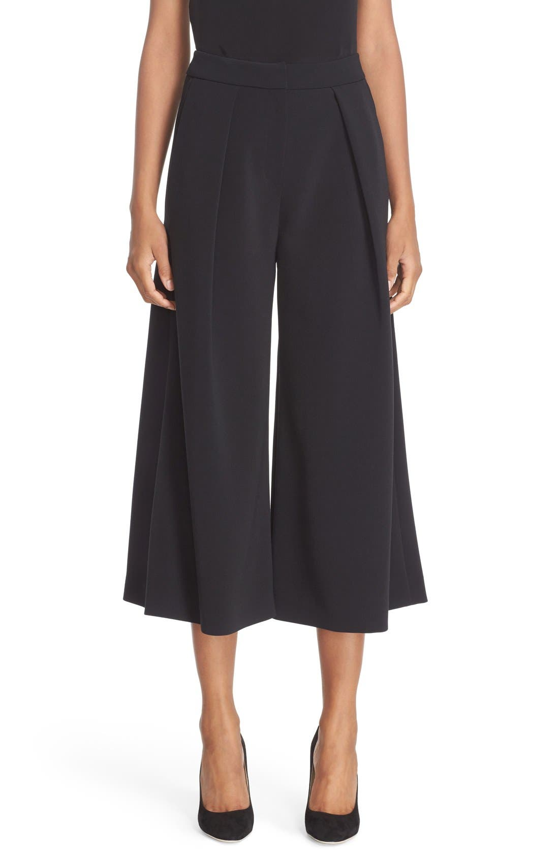 Devon Culottes,                             Main thumbnail 1, color,                             Black