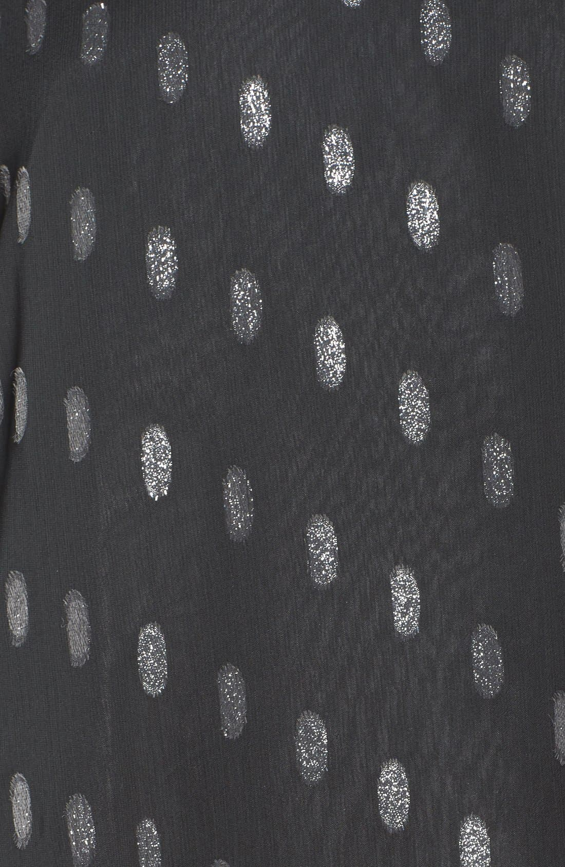 Alternate Image 5  - BB Dakota Warren Metallic Chiffon Shift Dress