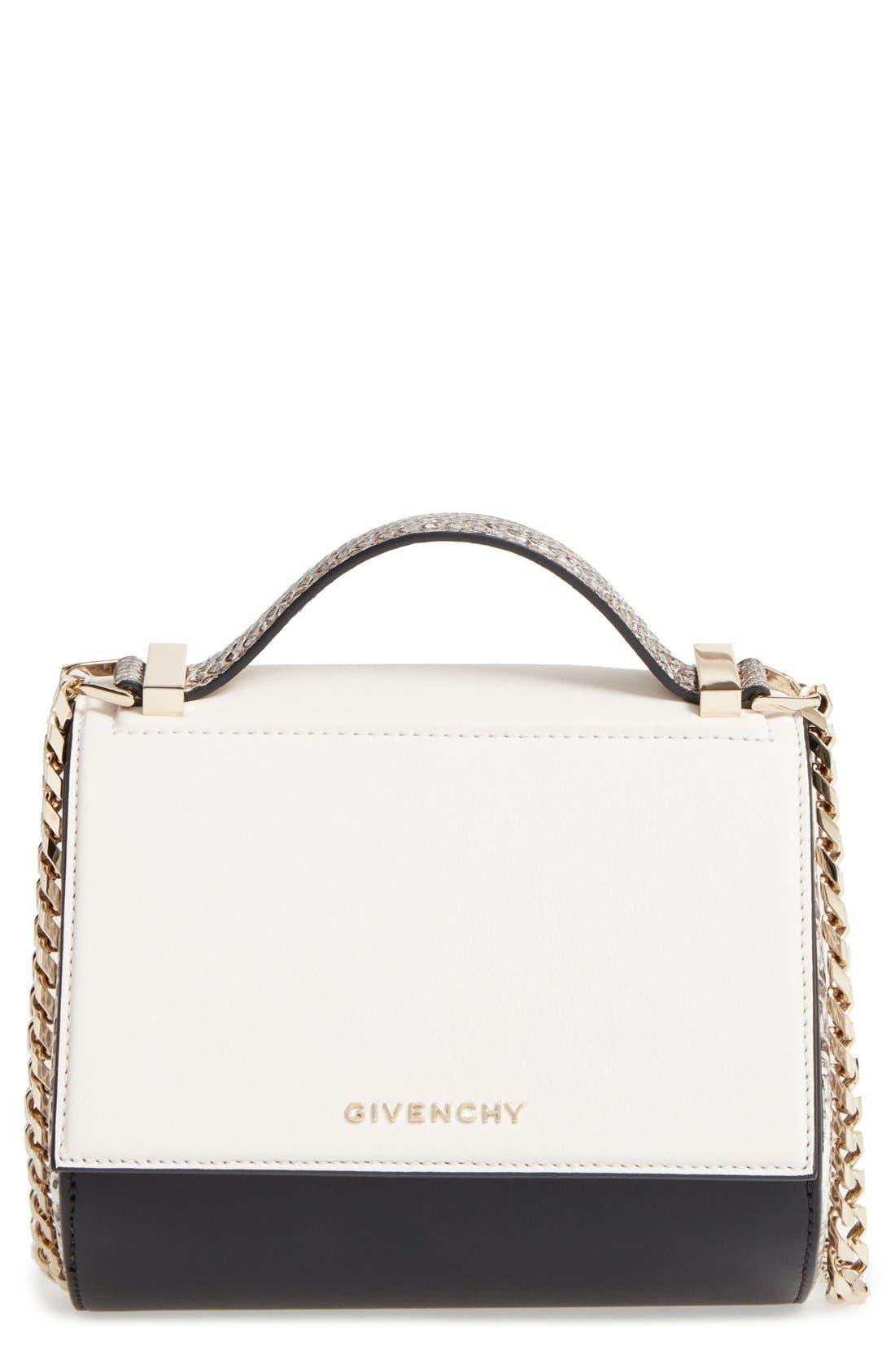 Main Image - Givenchy Pandora Box Genuine Snakeskin Crossbody Bag