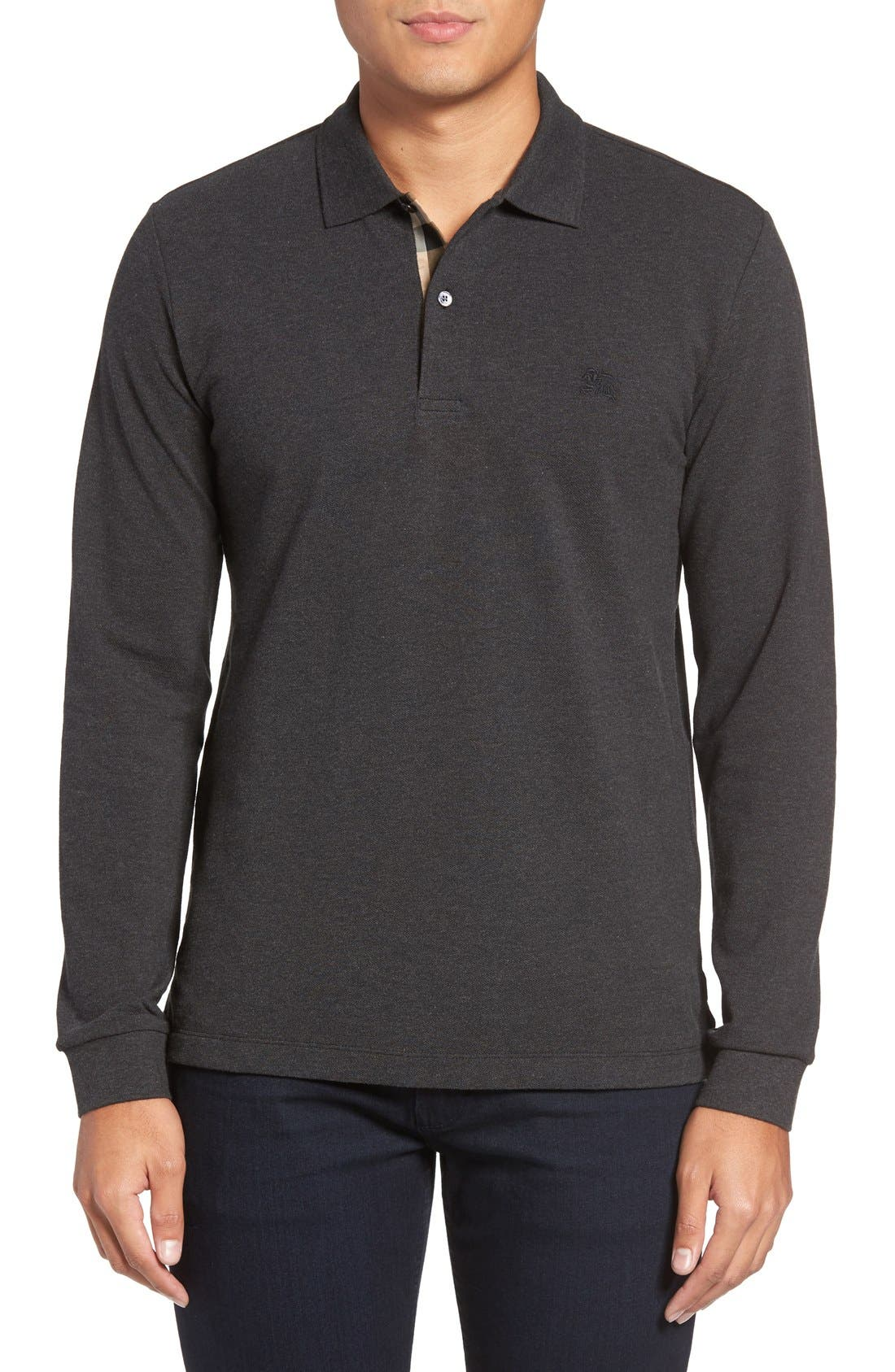 Main Image - Burberry Brit 'Oxford' Long Sleeve Polo