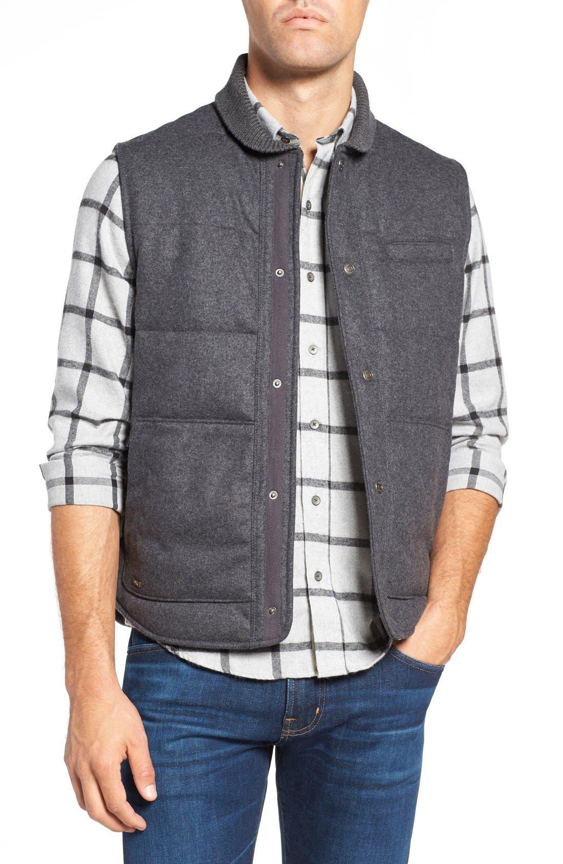 Pritchel Quilted Vest,                         Main,                         color, Charcoal