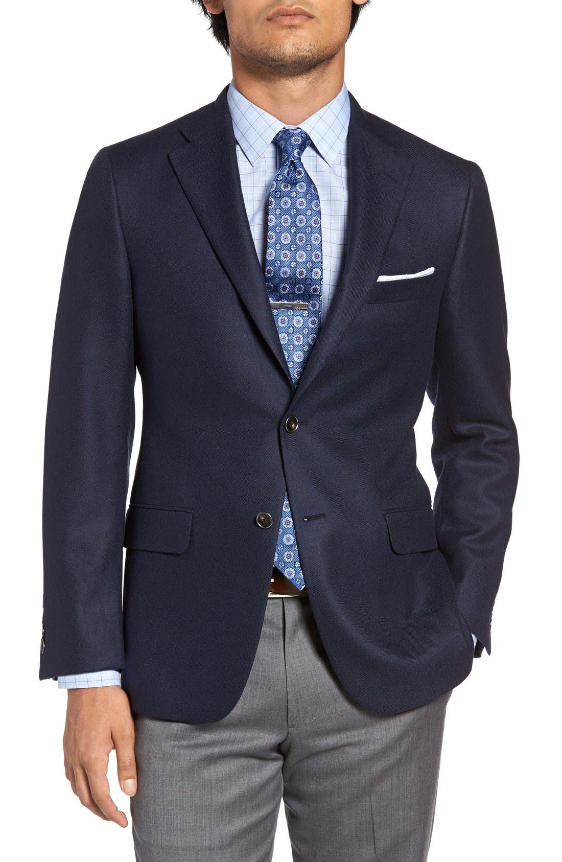 Alternate Image 1 Selected - Hickey Freeman Classic B Fit Cashmere Blazer