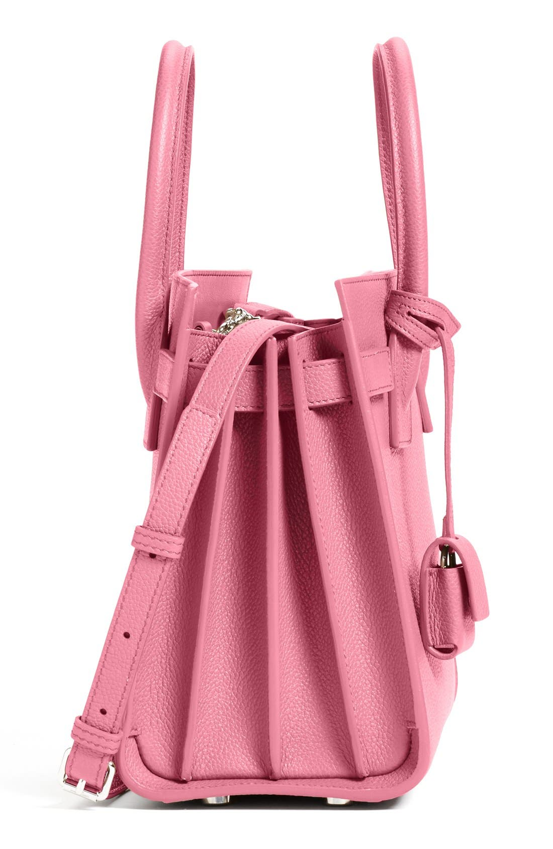 'Baby Sac de Jour' Bonded Leather Tote,                             Alternate thumbnail 5, color,                             Pink