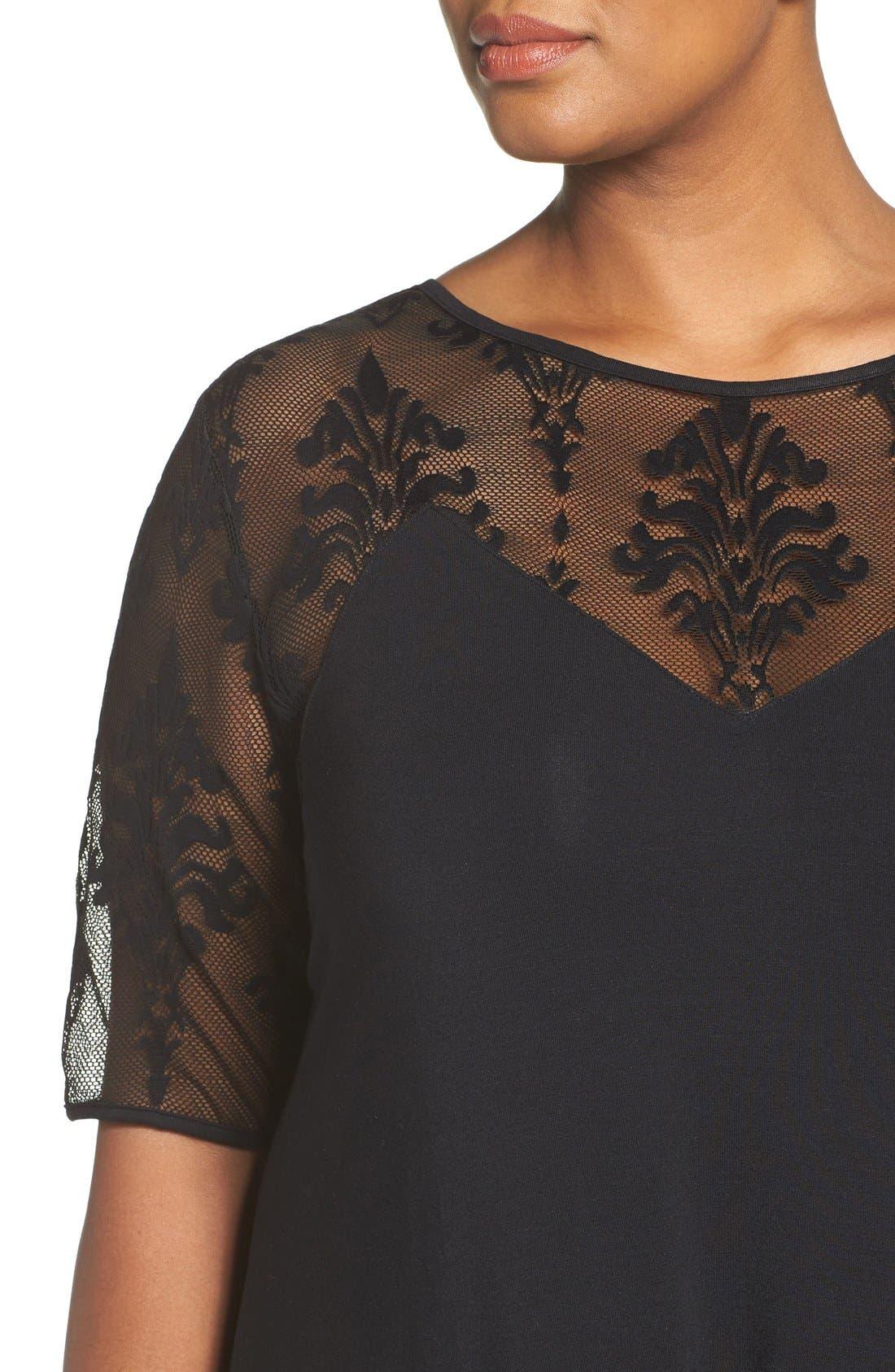 Alternate Image 5  - Tart Jessar Lace Yoke Shift Dress (Plus Size)
