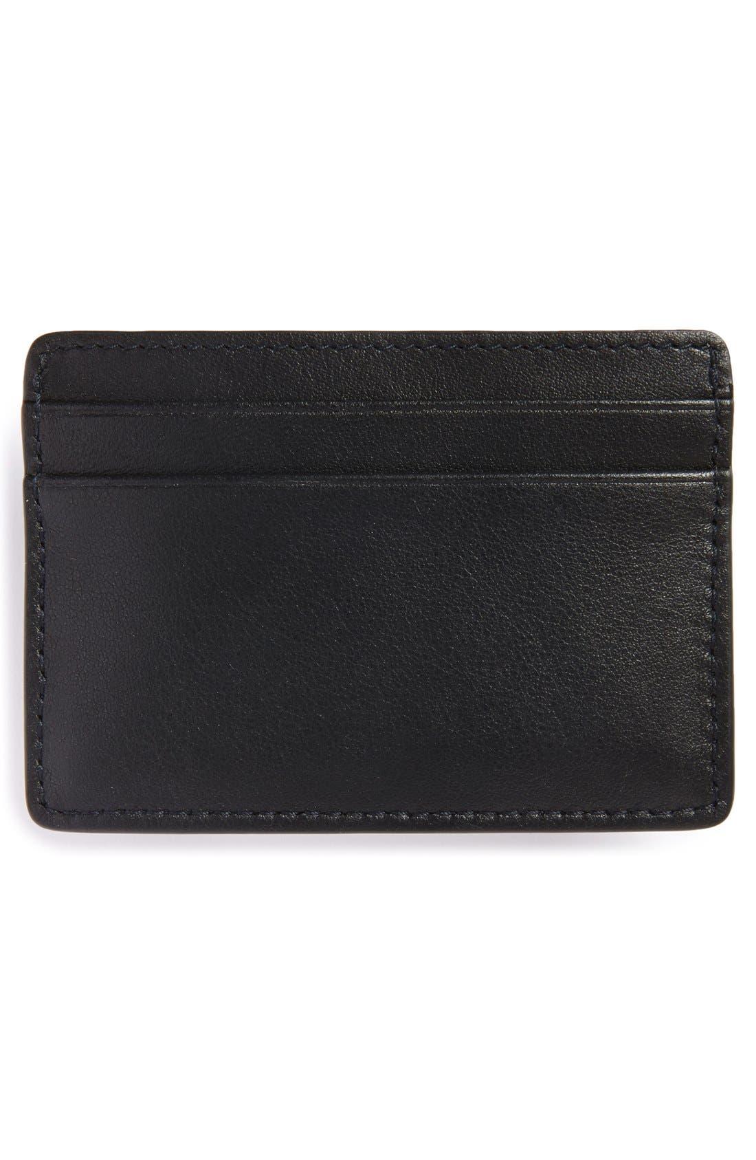 Traveler Card Case,                             Alternate thumbnail 2, color,                             Black