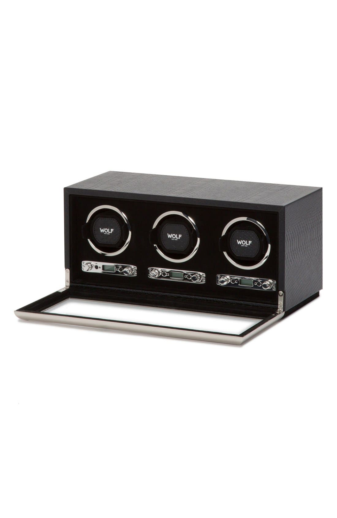 Alternate Image 3  - Wolf Exotic Triple Watch Winder
