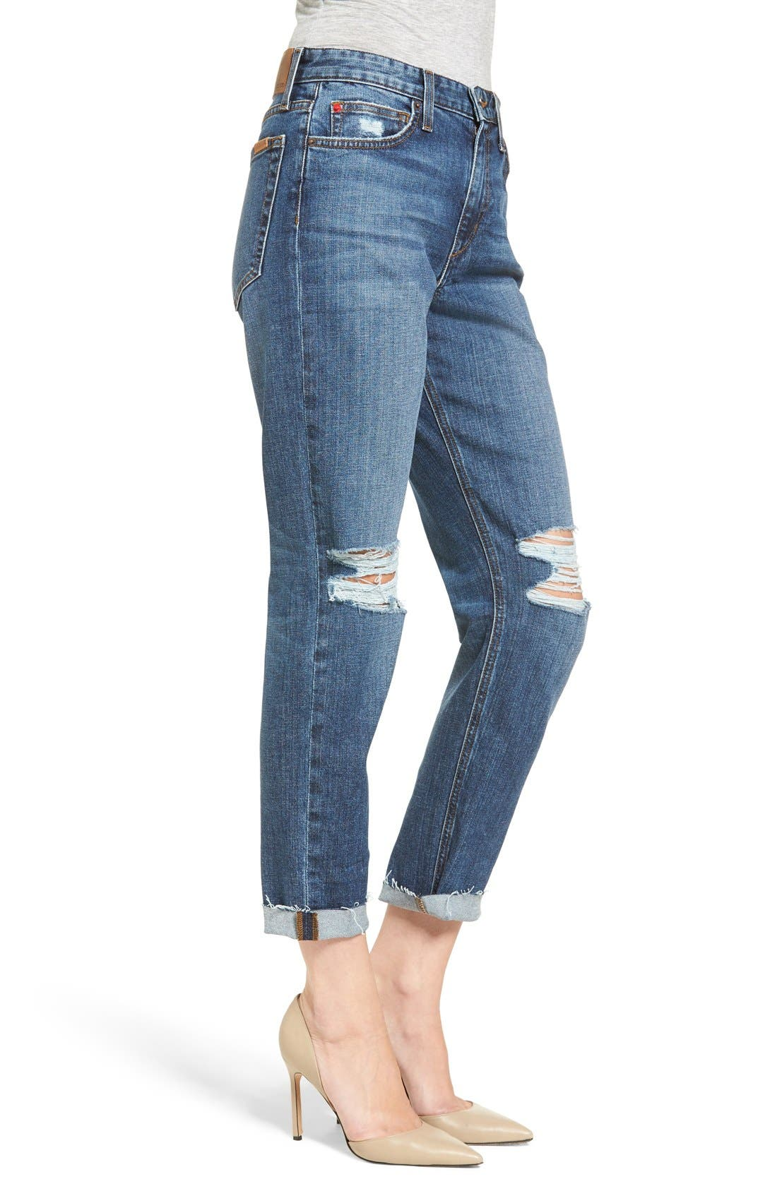Alternate Image 3  - Joes Jeans Debbie High Waist Ripped Boyfriend Jeans (Coppola)