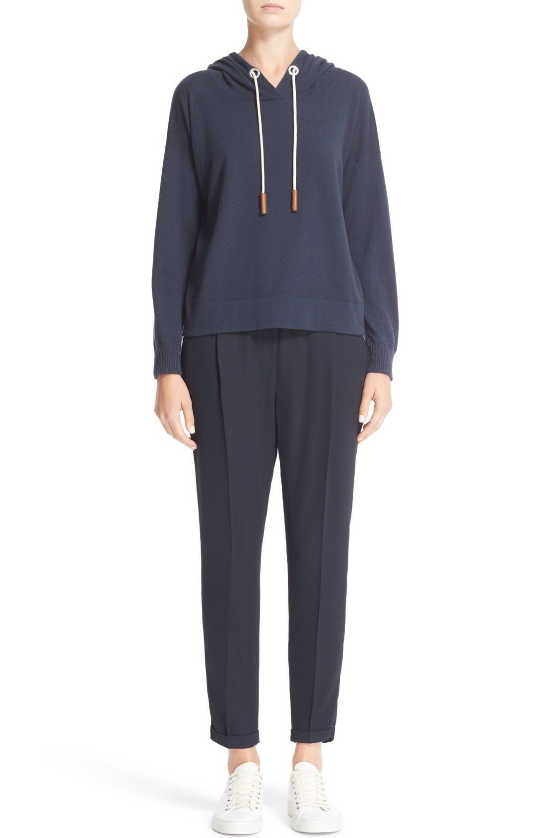 Cashmere Hooded Sweatshirt,                             Alternate thumbnail 7, color,                             Slate Blue