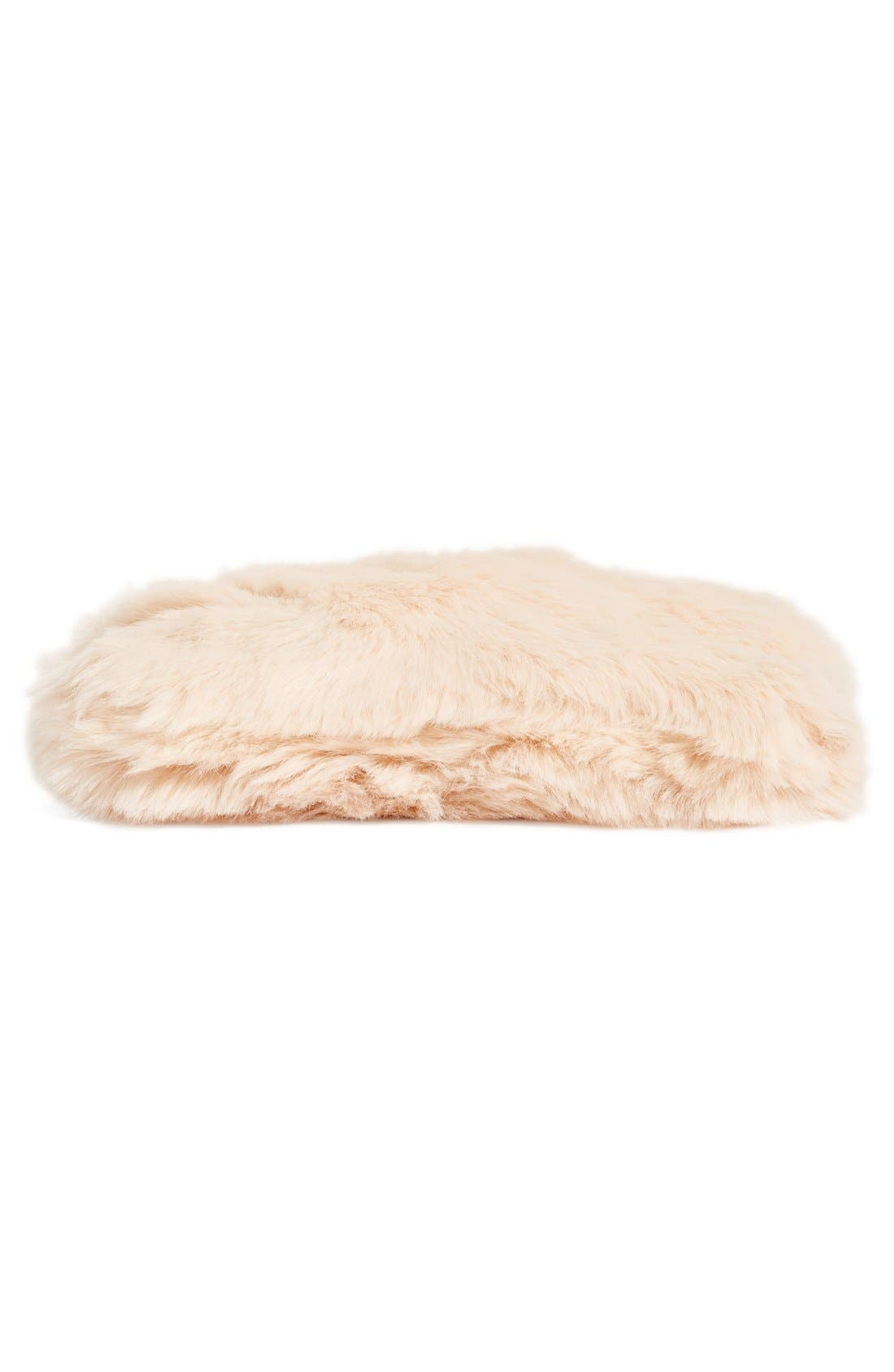 Cuddle Up Faux Fur Pouch,                             Alternate thumbnail 6, color,                             Pink Peony