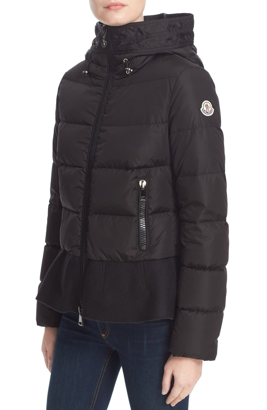 Alternate Image 6  - Moncler Nesea Peplum Hem Down Puffer Jacket