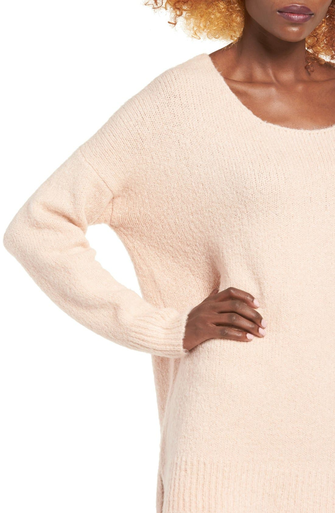Alternate Image 4  - Dreamers by Debut Cross Back Sweater