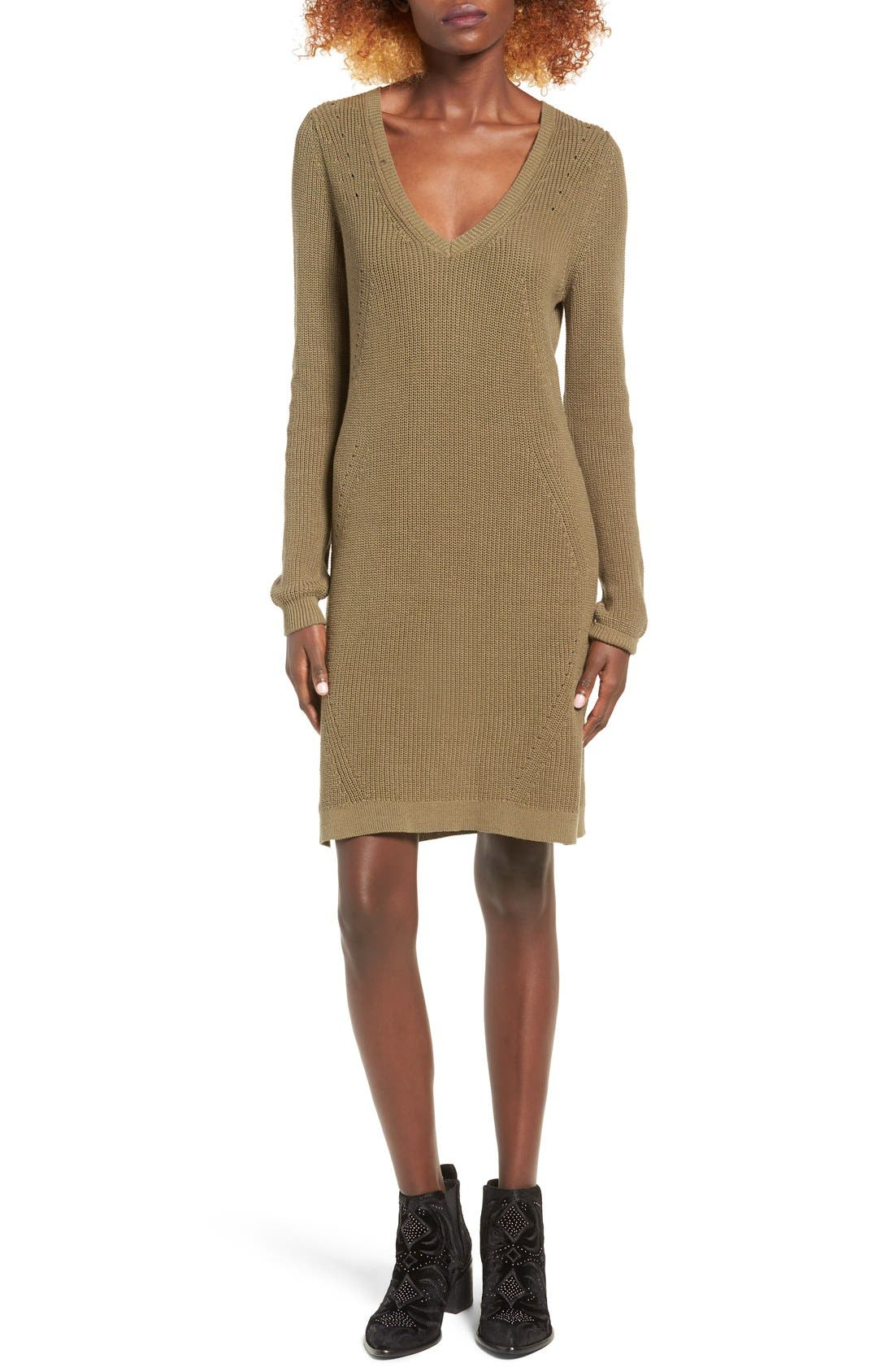 Alternate Image 1 Selected - BP. Shaker Stitch Sweater Dress