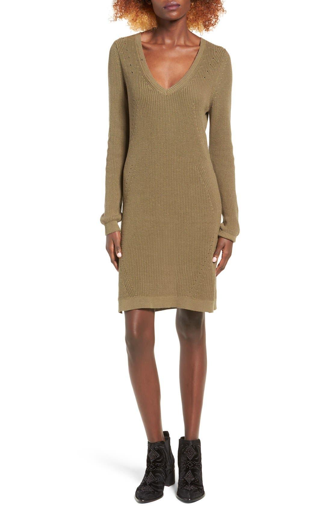 Main Image - BP. Shaker Stitch Sweater Dress