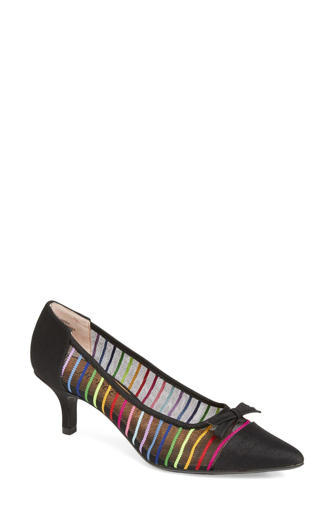 J. Reneé Brisa Pointy Toe Rainbow Stripe Pump (Women)