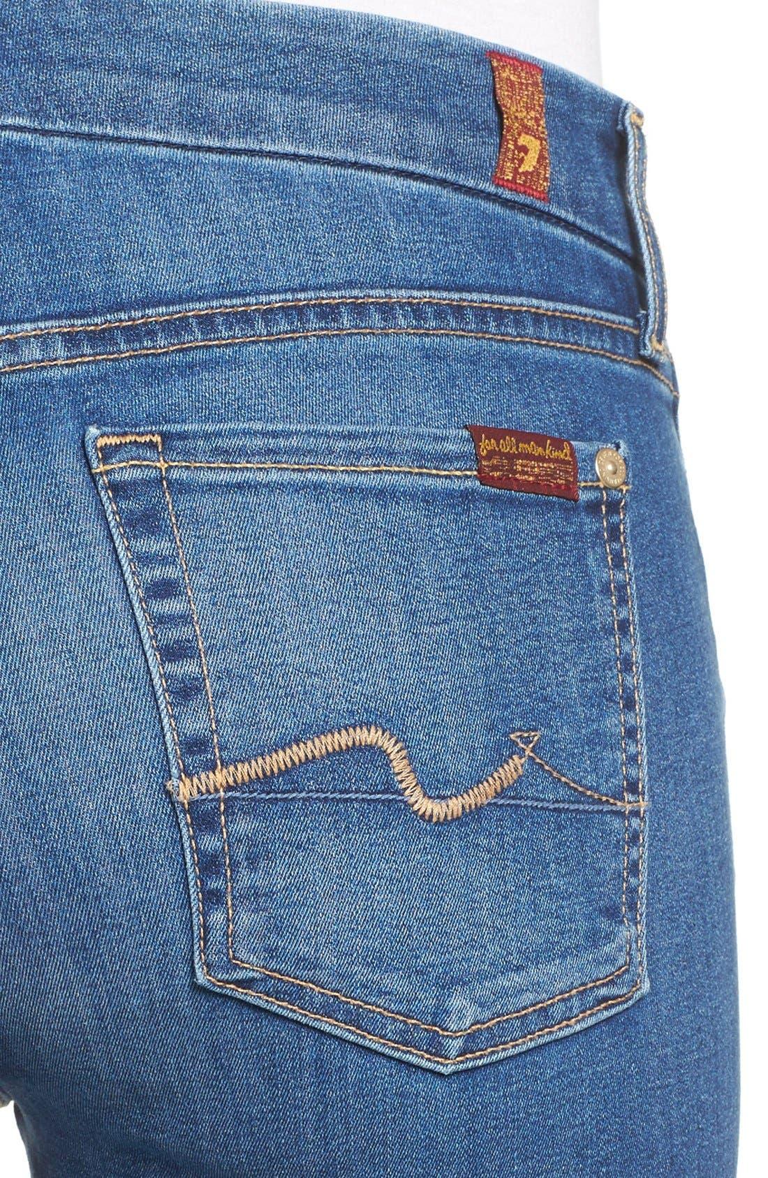 Alternate Image 4  - 7 For All Mankind® 'b(air) - Kimmie' Straight Leg Jeans (Duchess)