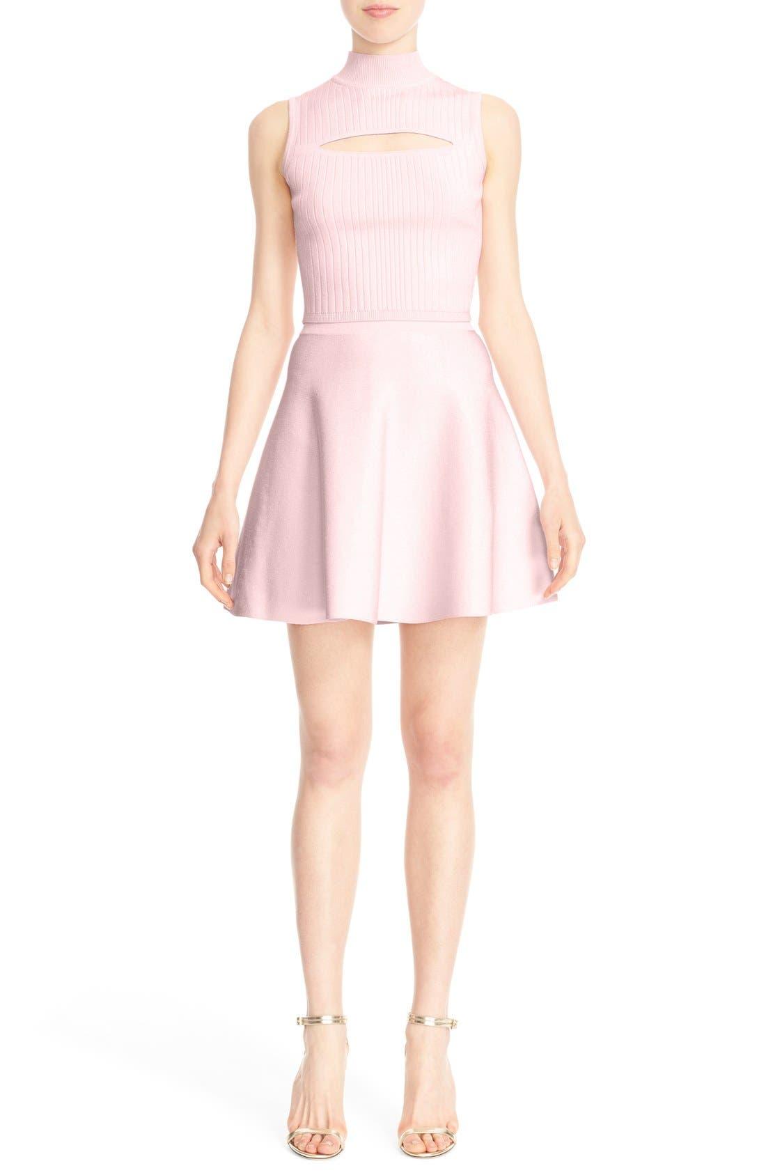 Alternate Image 6  - Cushnie et Ochs Knit Circle Cut Miniskirt