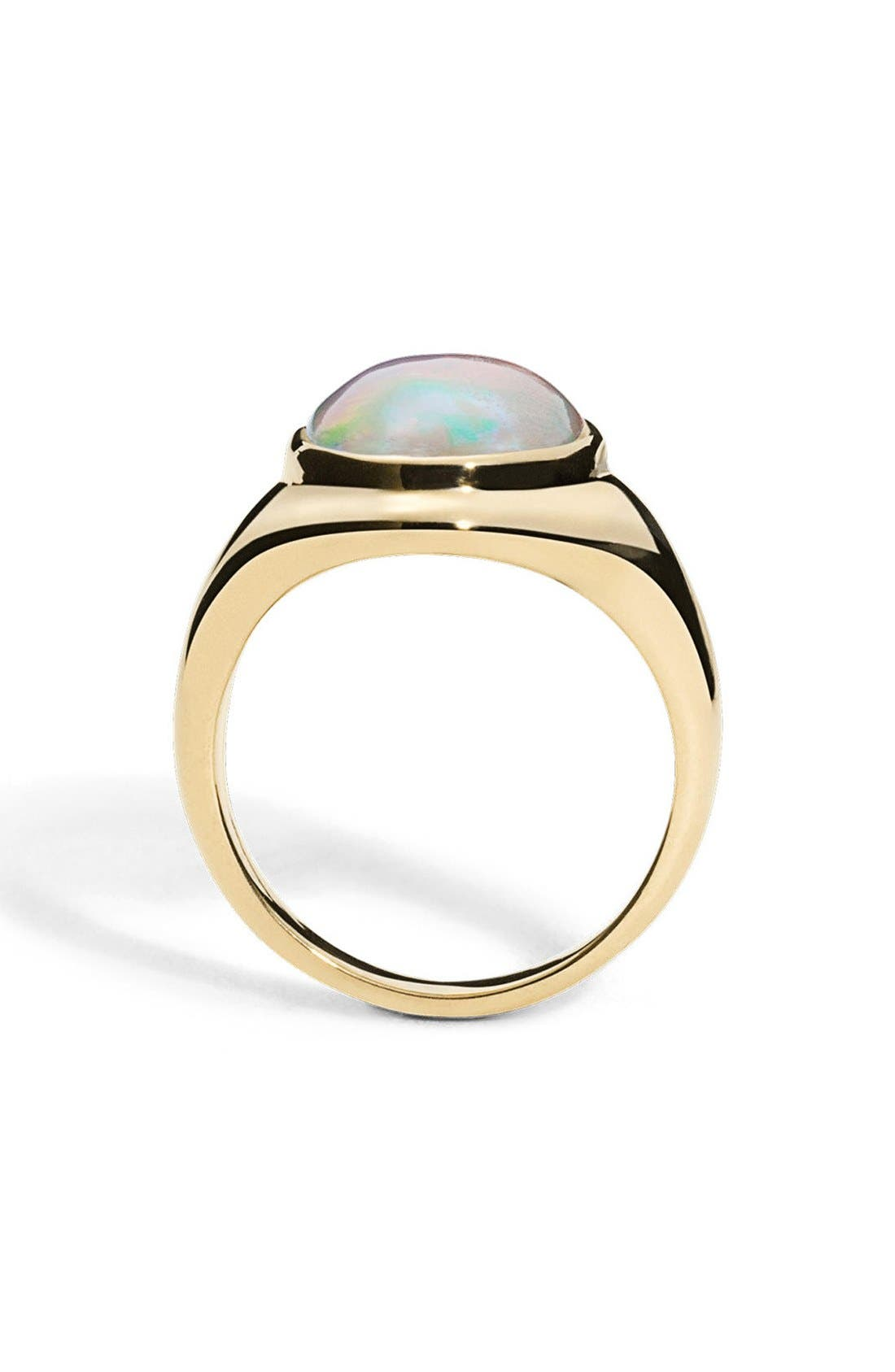 Alternate Image 2  - Shinola Opal Signet Ring