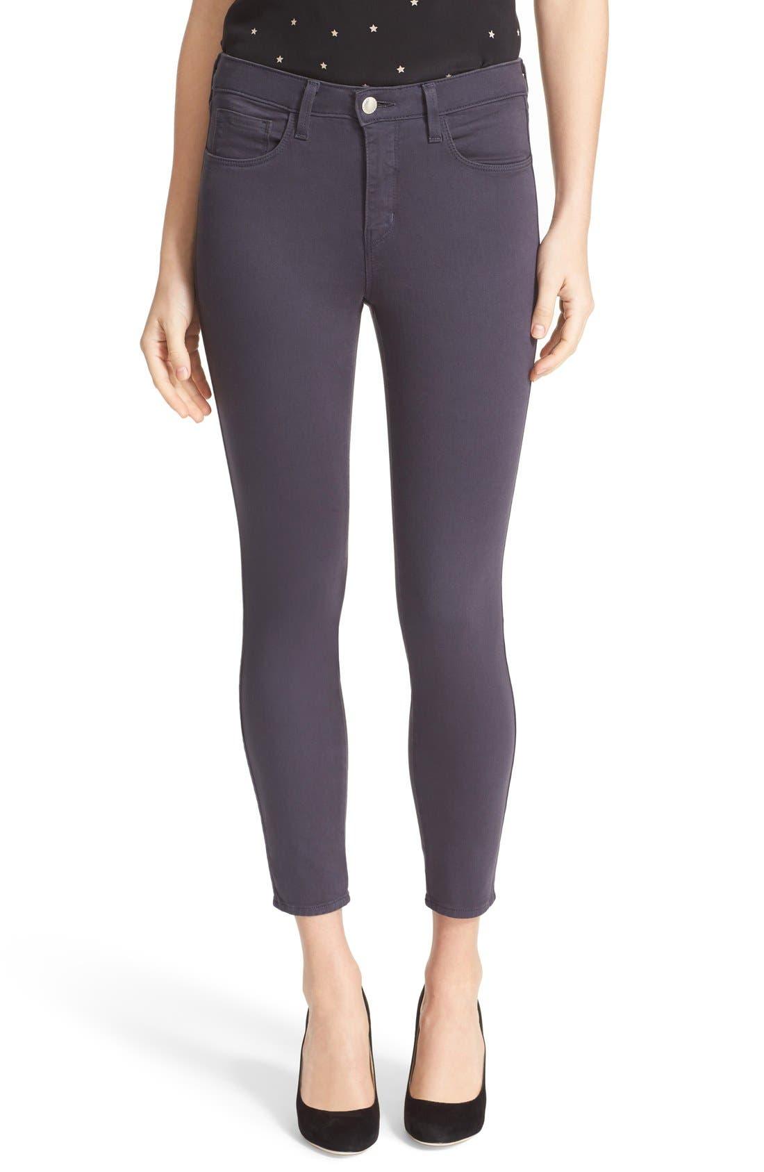 LAGENCE High Waist Skinny Ankle Jeans