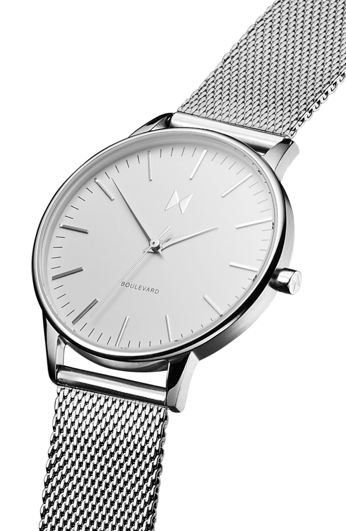 Alternate Image 4  - MVMT Boulevard Mesh Strap Watch, 38mm