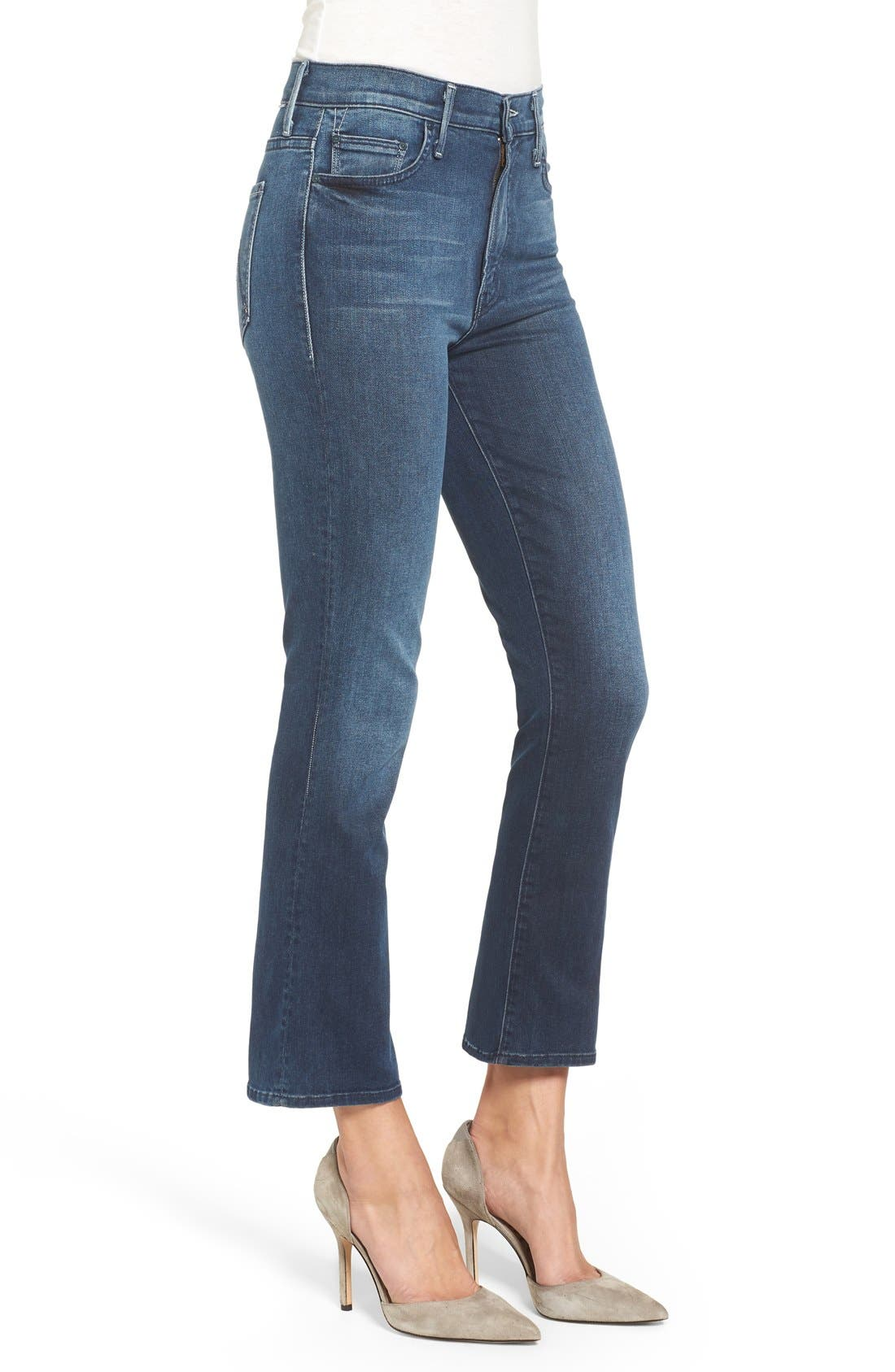 Alternate Image 3  - MOTHER The Insider High Rise Crop Bootcut Jeans (Repeating Love)