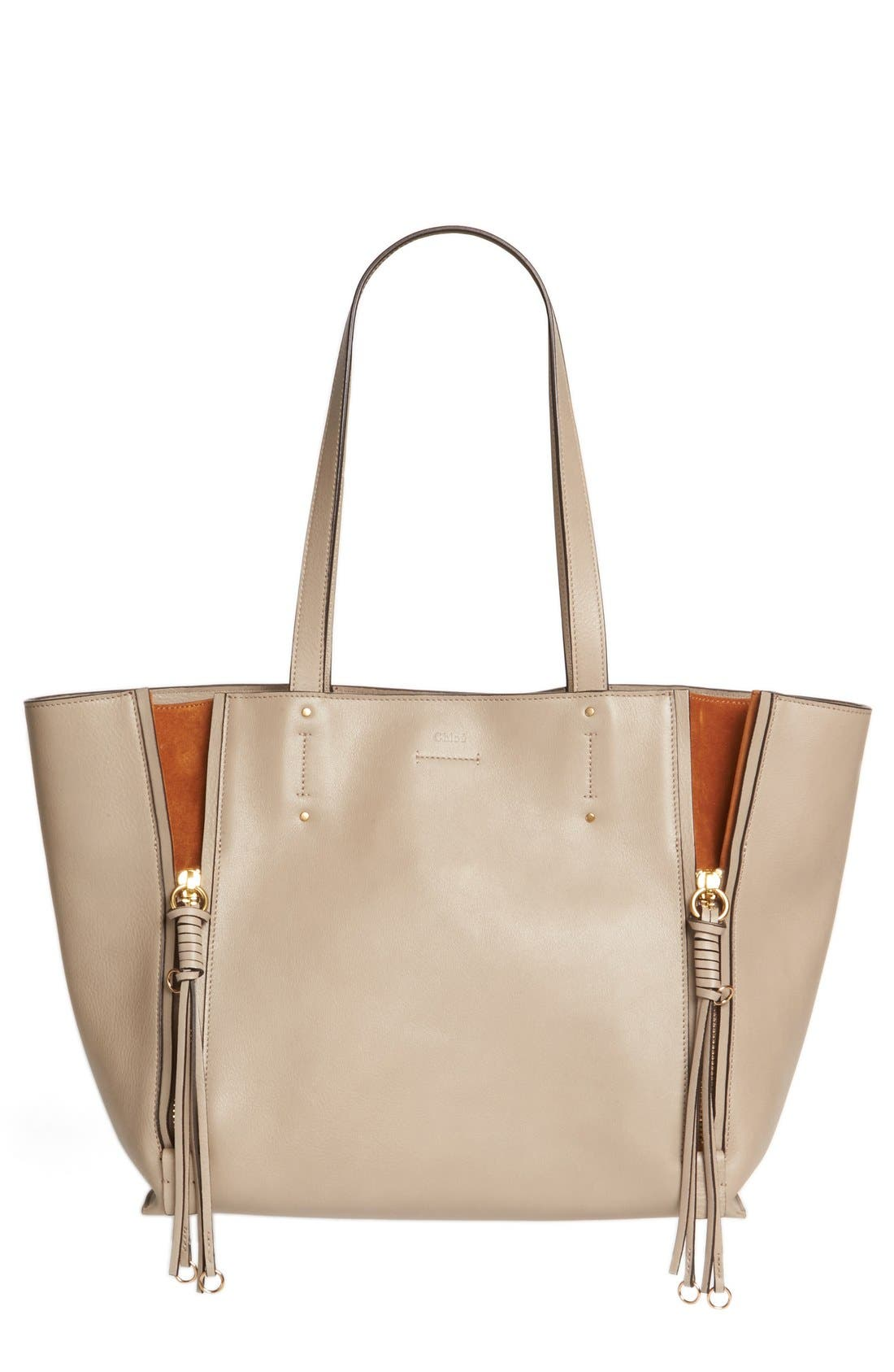 Chloé Medium Milo Calfskin Leather Tote