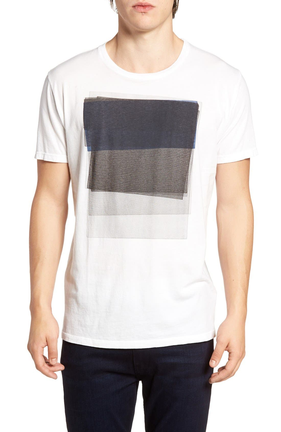 Sunken Graphic T-Shirt,                         Main,                         color, White
