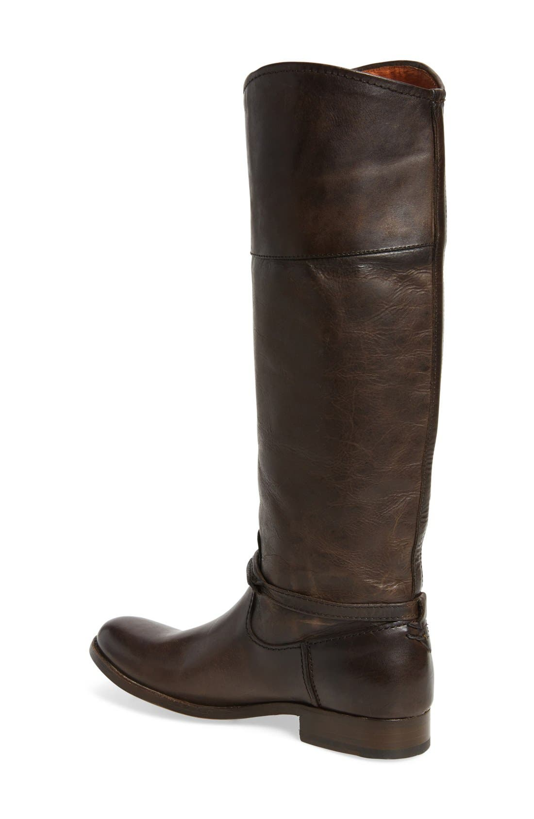 Melissa Seam Boot,                             Alternate thumbnail 2, color,                             Slate Leather