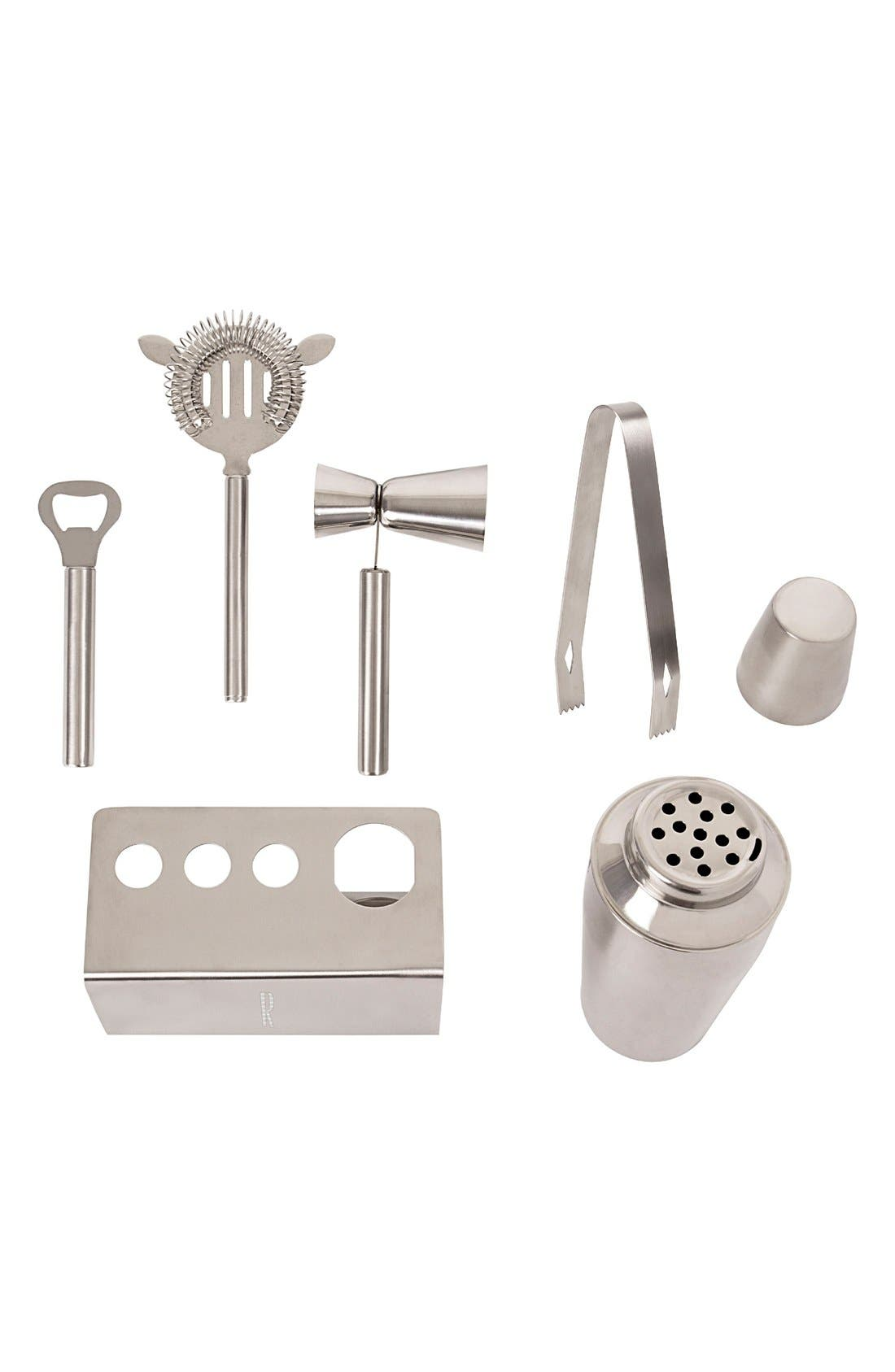 Alternate Image 3  - Cathy's Concepts Monogram Stainless Steel Mixology Set