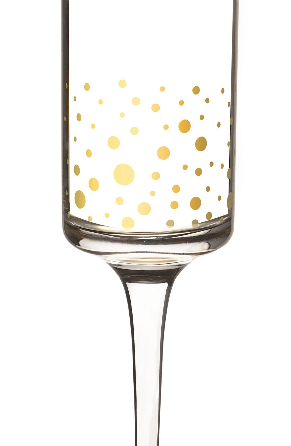 Alternate Image 3  - Cathy's Concepts Gold Dot Monogram Champagne Flutes