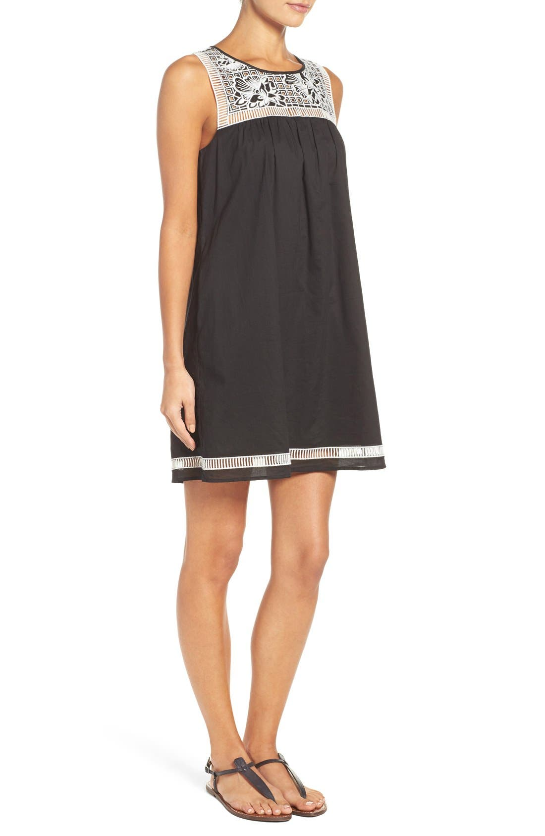Alternate Image 3  - Tory Burch Embroidered Yoke Cover-Up Dress