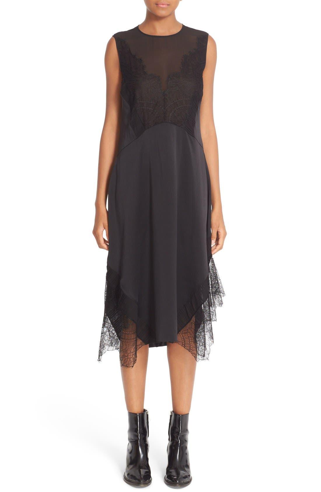 Alternate Image 1 Selected - Belstaff Jasmine Lace Inset Silk Midi Dress