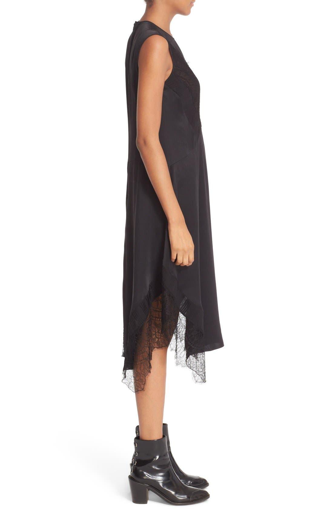 Alternate Image 4  - Belstaff Jasmine Lace Inset Silk Midi Dress