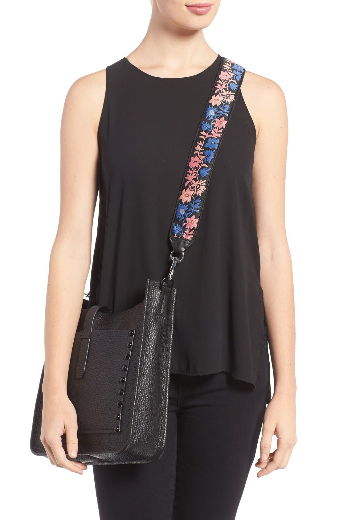 Alternate Image 2  - Rebecca Minkoff Floral Embroidered Guitar Bag Strap