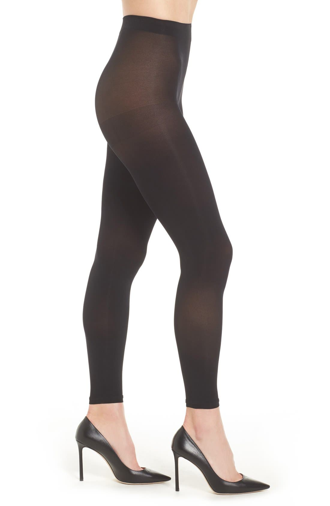 'Everyday' Footless Tights,                         Main,                         color, Black