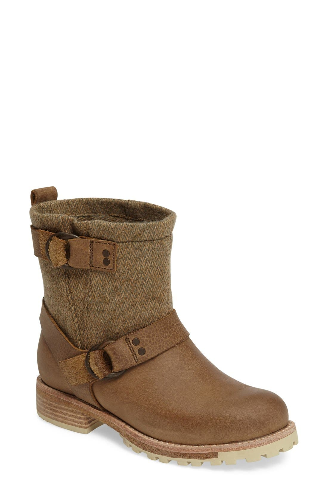 'Baltimore' Engineer Boot,                         Main,                         color, Sand/ Tweed Leather