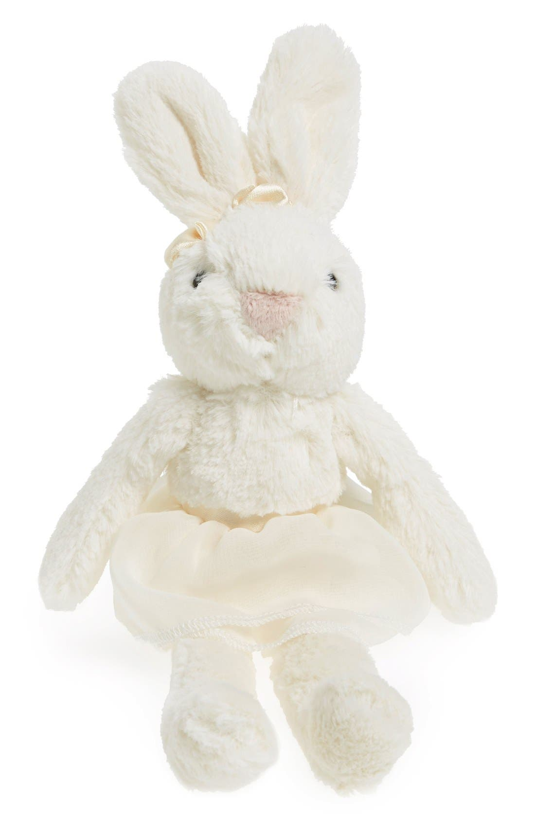 'Plum Bunny' Stuffed Animal,                             Main thumbnail 1, color,                             Cream