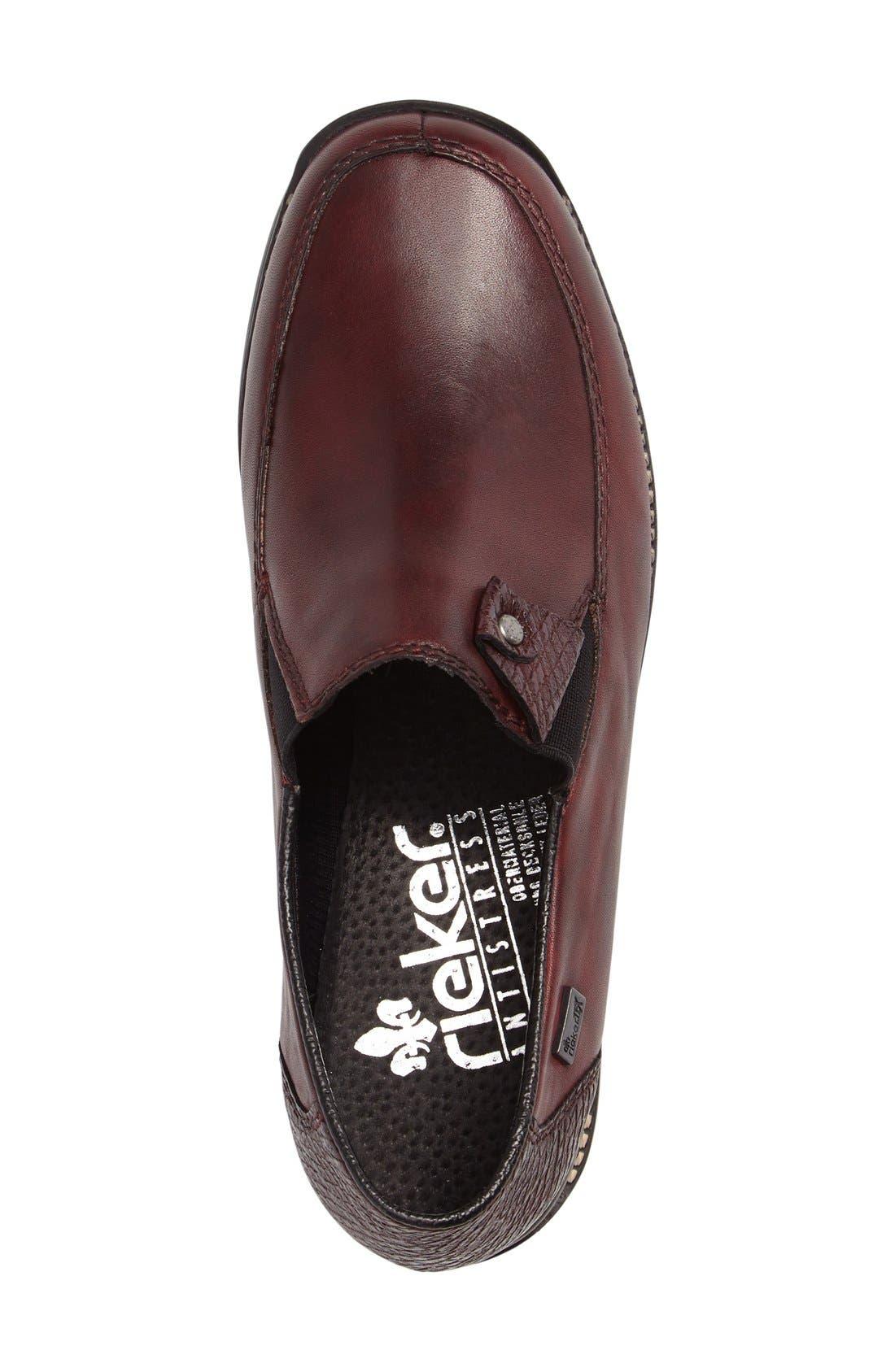 'Daphne' Wedge,                             Alternate thumbnail 3, color,                             Bordeaux Leather