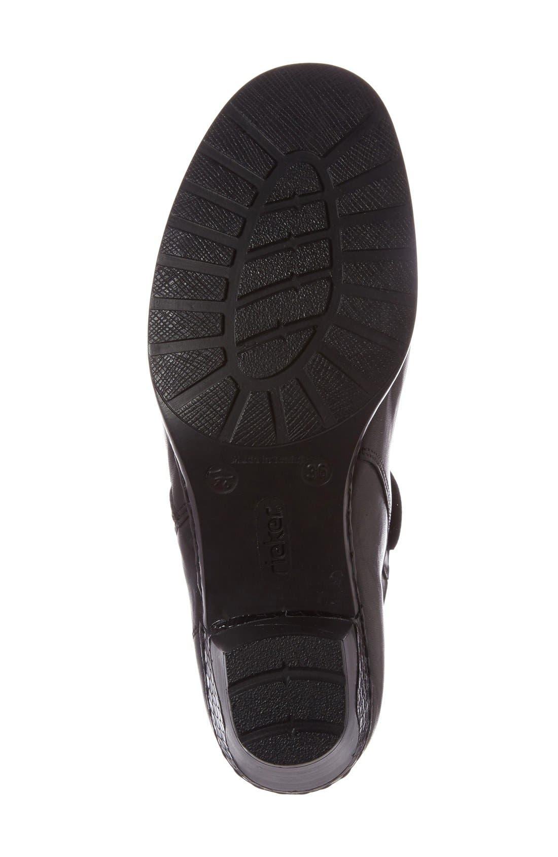 Lynn 61 Bootie,                             Alternate thumbnail 4, color,                             Black/ Black Leather