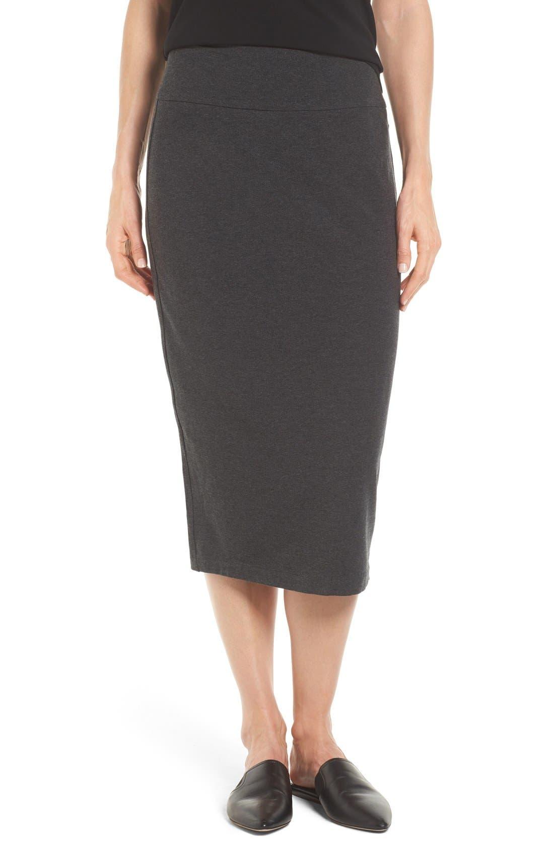 Eileen Fisher Cozy Jersey Pencil Skirt (Regular & Petite)