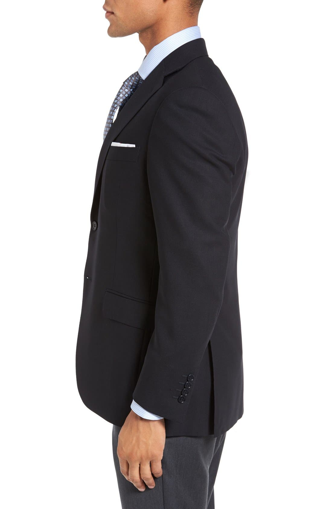 Alternate Image 3  - Canali Classic Fit Solid Wool Blazer